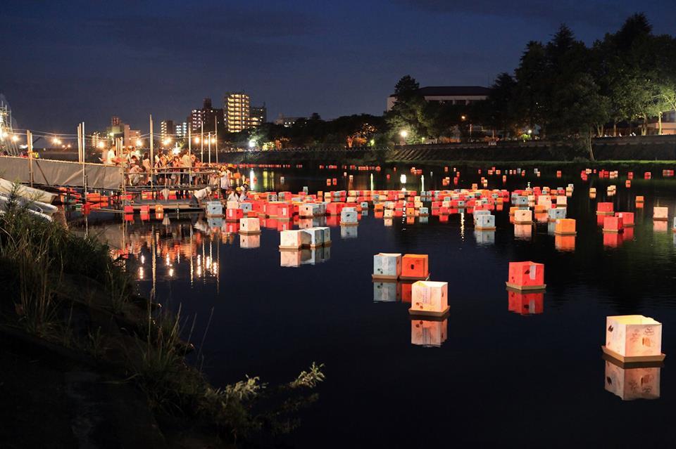 広瀬川灯ろう流し~光と水とコンサートの夕べ~