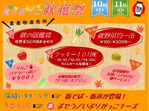 道の駅うご 秋穫祭